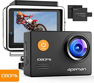 Apeman A70 - Cámara Deportiva (Full HD 1080P WiFi 14 MP) Color Negro