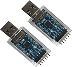DSD TECH 2PCS USB to TTL Serial Adapter with CP2102 Chip Compatible with Windows 7,8,10,Linux,Mac OS X