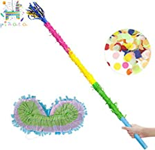 "Kaimei 30.6"" Pinata Stick with Blindfold Confetti Set for Pinata Kids Birthday Anniversary Celebration Decorations Gaming ..."