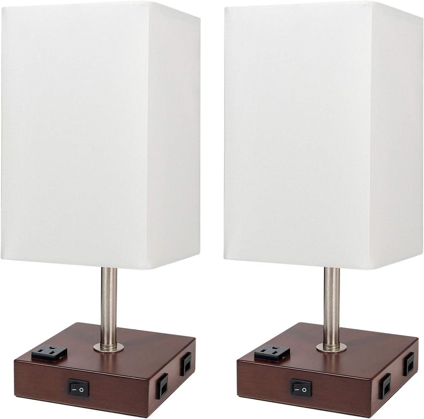 DEEPLITE Set of 2 Outlet SALE Table Very popular Lamp - Bedside USB Charging Por
