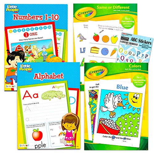 Bendon Fisher Price Preschool Workbooks Set -- 3 Pre-K Workbooks for Toddlers (ABCs, Counting, Colors, Shapes)