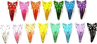 24 件蝴蝶发卡扣,尺寸 40mm(混合明亮和柔和淡色)
