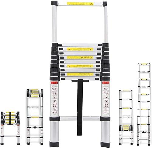 discount Telescoping Ladder 10.5Ft Aluminum Stepladder discount DIY 11 Steps Multi-Purpose Ladder 330lb Load sale 79cm to 320cm sale