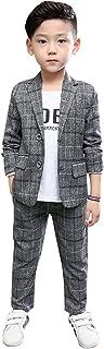 [ジンニュウ] 子供スーツ 男の子 スーツ 2点セット フォーマル 結婚式 七五三 お受験 面接 子供スーツ ジュニア フォーマルスーツ 110-160cm ジャケット+パンツ