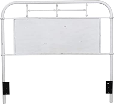 Liberty Furniture Industries Vintage Series Metal Headboard, Full, Antique White