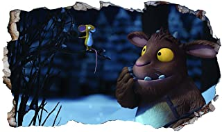 Gruffalo Child Mouse V306 3D Magic Window Wall Sticker Self Adhesive Poster Wall Art Size 1000mm Wide x 600mm deep (Large)