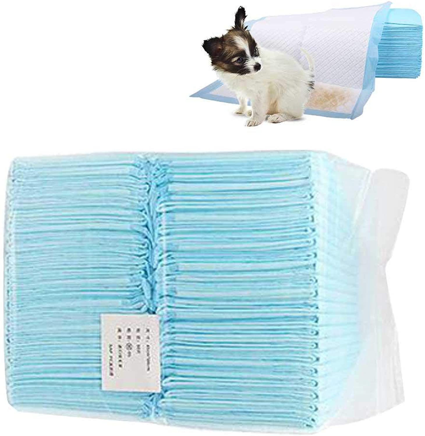 Puppy Pads, AUOKER Ultra Absorbent Pet Training and Puppy Pee Pads for Dogs, Native Wood Pulp Dog Potty Puppy Training Pad, Eliminate Odor, Leak Proof  24  18 , 50 Count