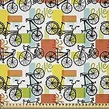ABAKUHAUS Fahrrad Stoff als Meterware, Geometrisch und