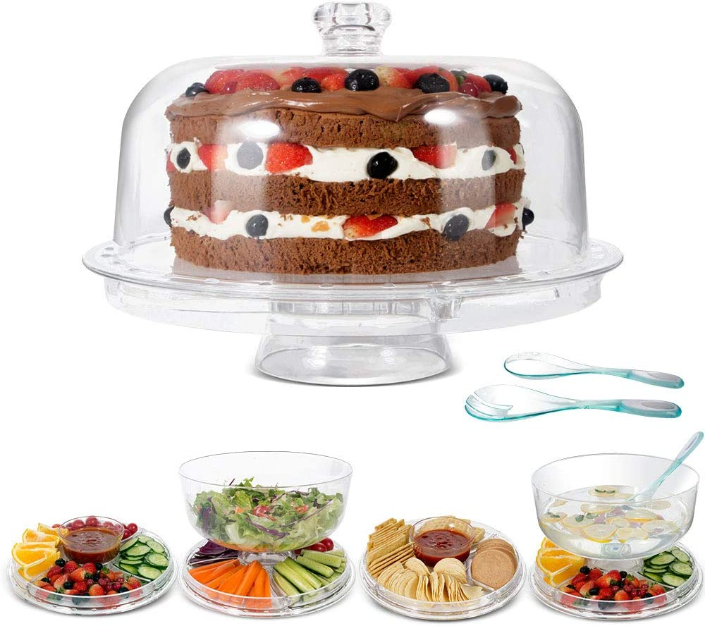 40% OFF Cheap Sale MASTERTOP Omaha Mall Cake Stand with Dome Cover 6 - Multi-Functional 1 in S