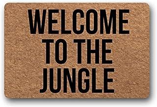 Red Forest Arts Custom Doormat Funny Door Mat Welcome Mat Living Room Decor (60×90CM, Welcome to The Jungle)