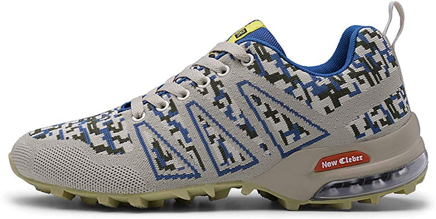 GONGFF Non-slip wear-resistant outdoor shoes breathable collision cushion hiking shoes men's flying woven low to help men's shoes