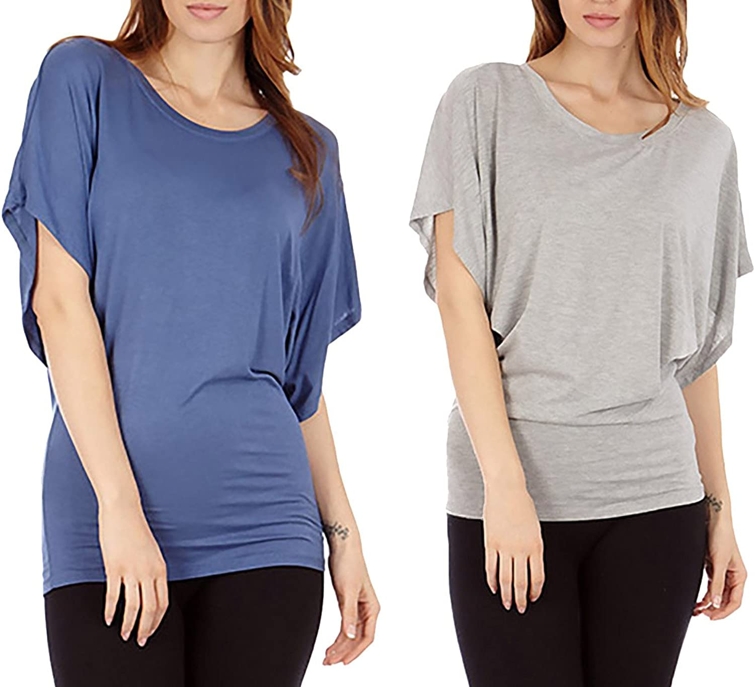 Dinamit Women's Batwing Sleeve Casual Tunic Top