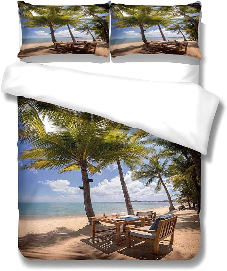 MENGBB Bedding Sheets Pillowcases Twin 94X86 Beach Seasonal Wrap Introduction Inch Tables New mail order