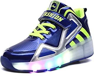 Roller Skate Shoes for Girls Boys LED Light up Sneakers Shoes with Wheels for Kids Adult