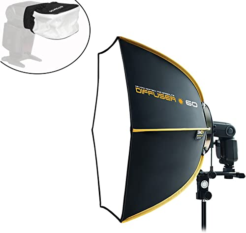 2021 XP outlet online sale PhotoGear Professional Hexagonal Collapsible Speedbox Diffuser-60cm 23 x 20 Inches for Most Speedlight Flash lowest Units sale