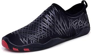 LEKUNI, Unisex Zapatos de Agua de Natación Calzado de Secado Rápido Respirable Soles de Color Zapatos de Agua Piscina Playa