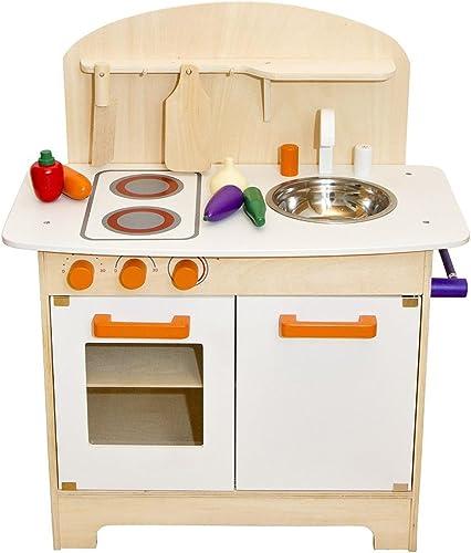 buena reputación blancoa Niños Cocina Cocina de juguete (Madera Cocina Infantil Infantil Infantil Juego Juguete Cocina Cocina Madera con Accesorios  en stock