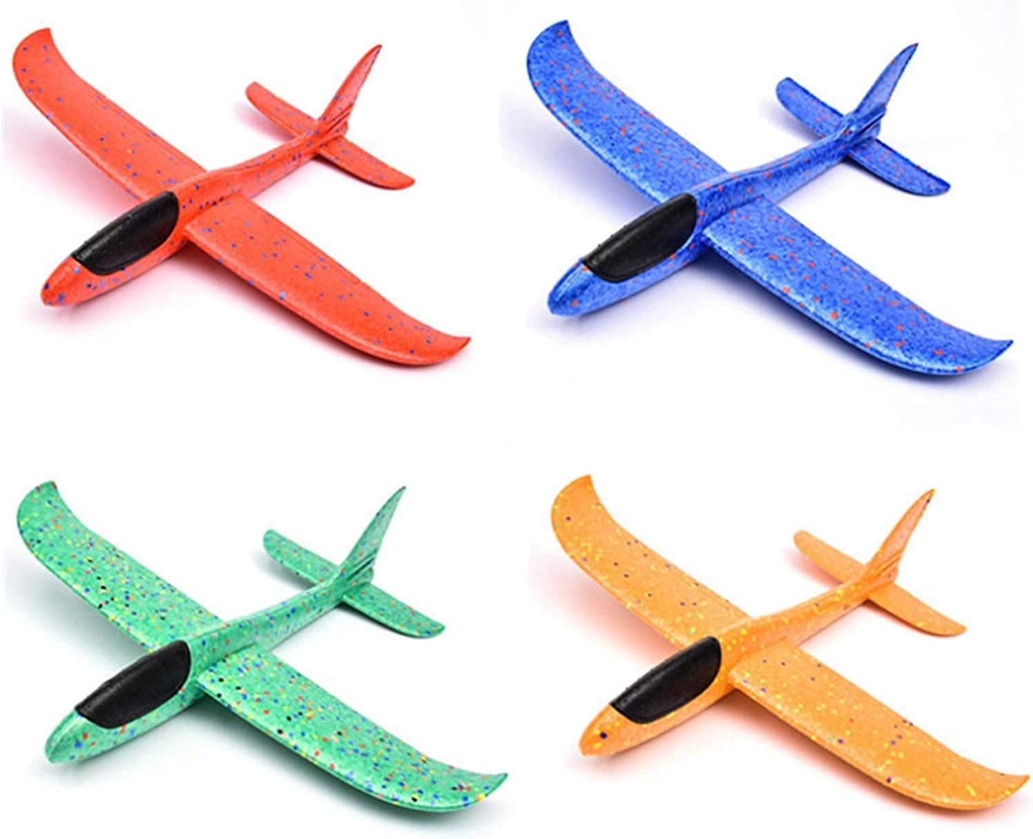 VEAREAR 4 Pack Ranking TOP20 Manual Throwing Sales results No. 1 Foam Glider A Airplane Toy Flying