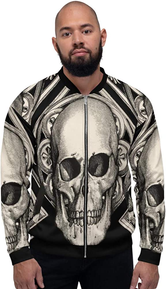 Cubed Skull lowest price Unisex Bomber Jacket Frox By Denver Mall Ross Design Far Apparel