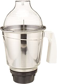 Preethi 1.5L Stainless Steel Large Jar for Eco Twin, Eco Plus, Nitro and Blue Leaf, 1.5-Liter