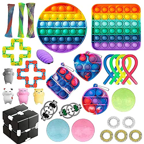 YUZHANGTONG Sensory Fidget Toy Set, Stress Relief Toys for Adults Kids ADHD Anxiety Autism,Adults,...
