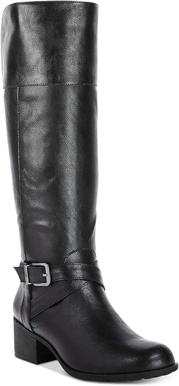 Style & Co. Womens Venesa Almond Toe Knee High Fashion Boots, Black, Size 10.0