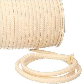 Turnbeutelliebe Kordel 100% Baumwolle 8mm breit, dick - für Turnbeutel, Taschen & Hosen - zum nähen - viele Farben und Längen - geflochten - Schnur - Seil - Bastelschnur - Band Natur, 10