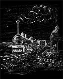 WASO Juego de 4Hobby–Imágenes scrapy arañazos–Locomotora, autobús, tres master, Globo de aire caliente/Grande Plata * *