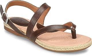 Womens Lucila Faux Leather Espadrille Flat Sandals