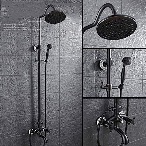 WMPD LT douchekop in Europese stijl, koperen doucheset, zwarte oude douchekop, douchekop, vintage zwarte douche, douche