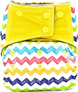 Happy Buba All-in-one Fitted Cloth Nappy with Insert (Colorful-Lines)