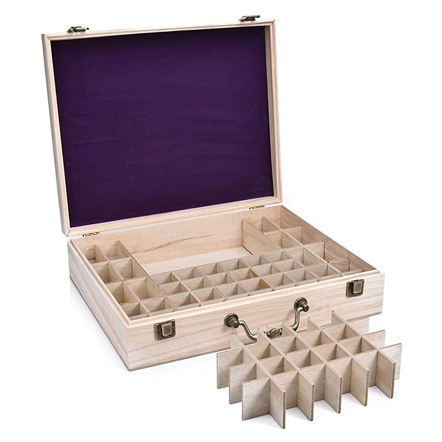 止まるによって声を出してエッセンシャルオイル収納ケース 精油収納ボックス 大容量 68本収納可能 取り外し可能 木製 環境に優しい 5ml?10ml?15ml?115mlの精油ボルトに対応 junexi