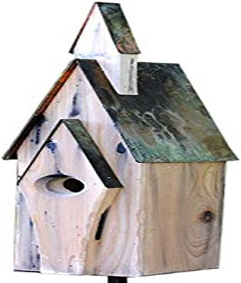 Heartwood 228A Graceland Bird House in Weathered White Finish