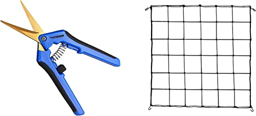 new arrival VIVOSUN online sale 1-Pack 3x3FT outlet sale Elastic Trellis Netting with Hooks and 1-Pack Gardening Hand Pruner online