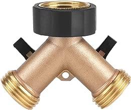 Brass Water Tap Adapter TOPINCN Hose Connector 2 Way Y Shape 3/4 Garden Irrigation (American Standard)