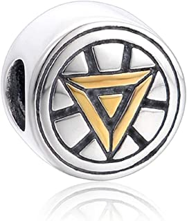 EVESCITY Limited Edition Super Hero Shield 925 Sterling Silver Bead for Charms Bracelets for Charm Bracelets Best Jewelry ...