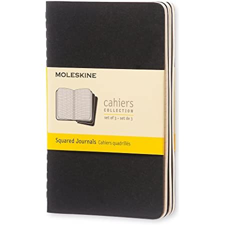 Moleskine Quaderno Cahier Journal, Quadretti, Nero