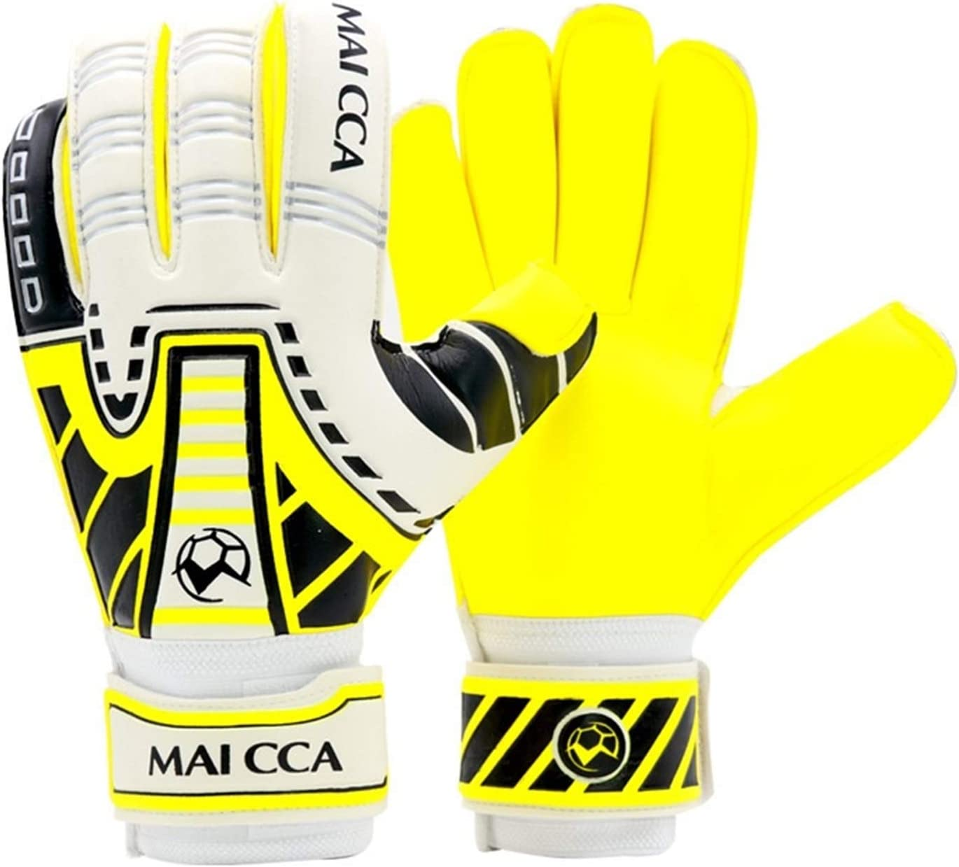 ZHIZI Challenge the lowest price of Japan Fashionable Goalkeeper Gloves Foot Yellow Two-Piece