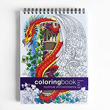Mythical Enchantments Coloring Book -- Large (8.62 x 11.75 inches)