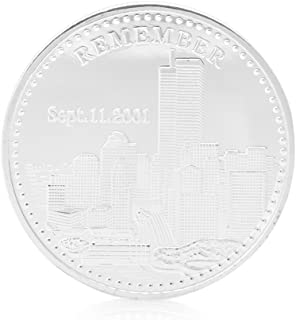 W-Fight 911World Trade Center Freedom Statue of Liberty Silver Plated Commemorative Coin,Best Choice for Your Friends AS A Xmas, New Year,Birthday Gift