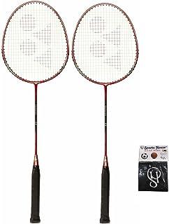 Yonex Carbonex 7000 Badminton Racquet (Pack of 2) & SPORTSHOUSE Cotton Wrist Band