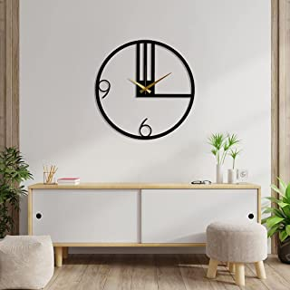 Wallcentre Art Beyond Imagination Metal Wall Clock with Unique Pattern for Home, Office, Living Room Decor (Black, Size: ...