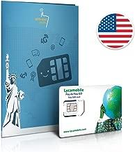Tarjeta SIM prepaga de 4 GB 4G LTE, llamadas internacionales y mensajes de texto ilimitados, 30 días