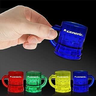 Multi Color 1oz Plastic Mug Shot Glasses - 12 Pack
