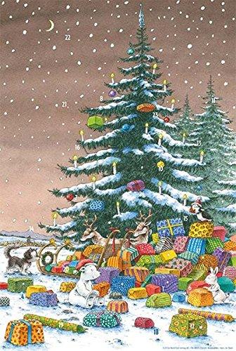 Adventskalender Kleiner Eisbär unter dem Weihnachtsbaum