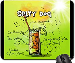 Mouse Pads - Salty Dog Cocktail Drink Alcohol Recipe Party