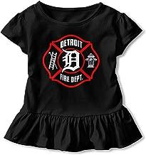 SC_VD08 Detroit Fire Dept. Kids Children Crew Neck Tee Clothes