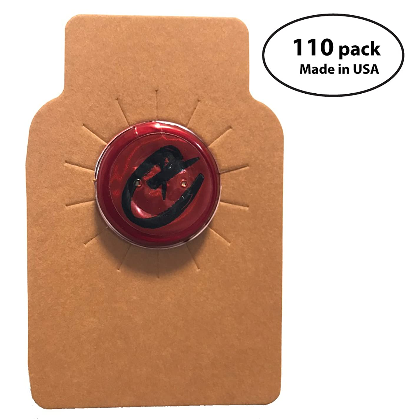 Wine Bottle Tags Kraft Leather Paper Made in USA, Premium Wine Cellar Labels - 110 Count