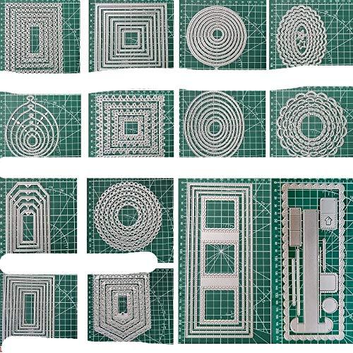 Design Craft Metal Cutting Dies Rectangle Decoration Dies Scrapbook Album Paper Card Craft Embossing Die Cuts 2021-Black
