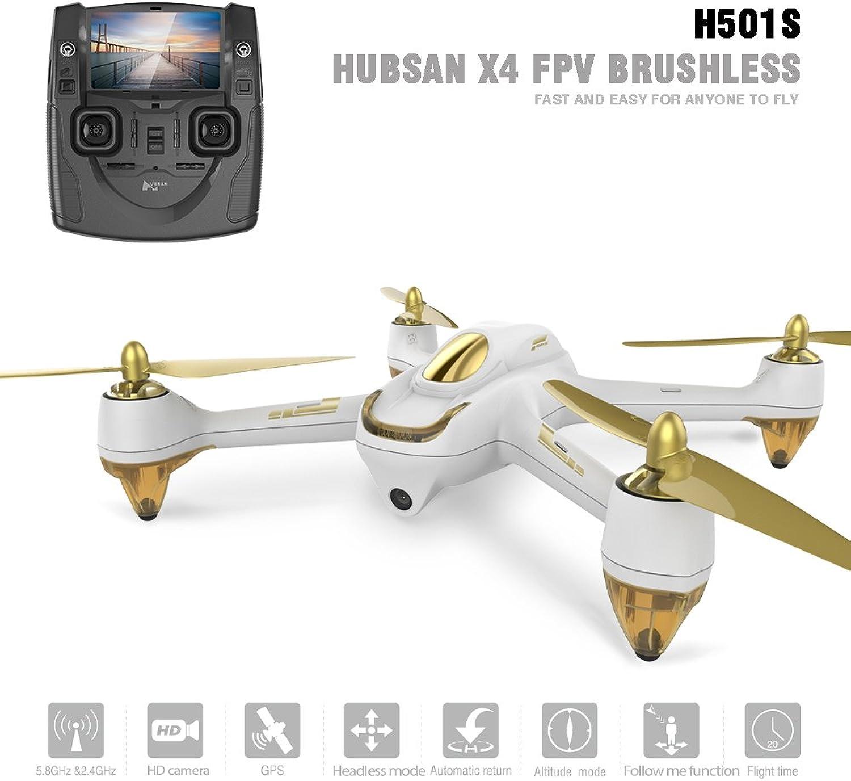 respuestas rápidas Hubsan H501S X4 Brushless Drone GPS 1080P 1080P 1080P HD Cámara 5.8Ghz FPV 2.4Ghz RC Cuadricóptero con H901A Transmisor blancoo Estándar Versión  precios ultra bajos